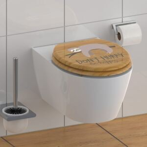 SCHÜTTE Toilet Seat with Soft-Close DON'T HURRY