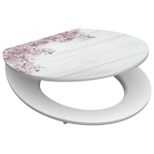 SCHÜTTE High Gloss Seat with Soft-Close FLOWERS WOOD MDF