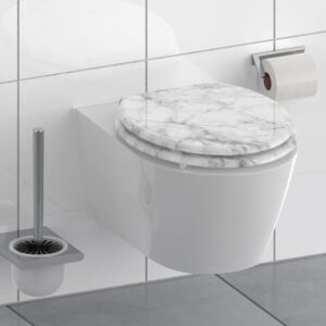 SCHÜTTE Toilet Seat with Soft-Close MARMOR STONE