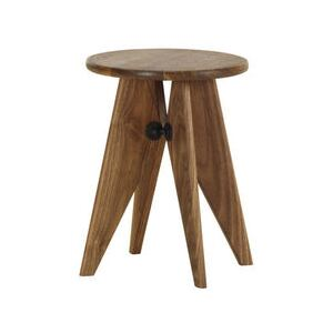 Solvay Stool - / By Jean Prouvé, 1941 by Vitra Natural wood