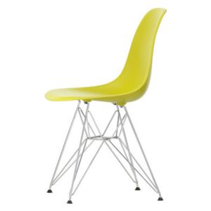 DSR - Eames Plastic Side Chair Chair - / (1950) - Chromed legs by Vitra Yellow