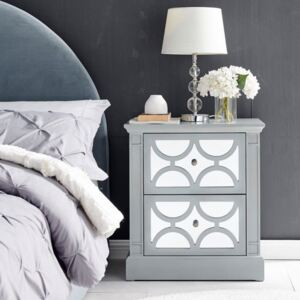 Blakely Grey Painted 2 Drawers Side Table