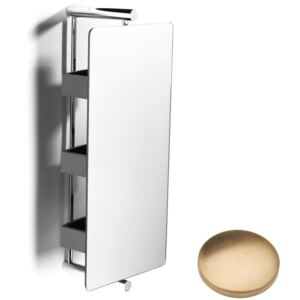 Samuel Heath Xenon Storage 360 with 3 Shelves L5148 Brushed Gold Unlacquered
