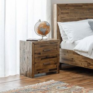 Hoxton Solid Acacia 2 Drawers Bedside Table