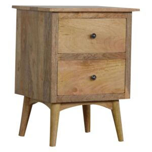 Nordic Solid Wood 2 Drawers Bedside Table