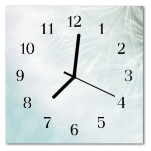 Glass Kitchen Clock Abstract abstract art blue 30x30 cm