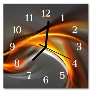 Glass Kitchen Clock Abstract abstract art multi-coloured 30x30 cm