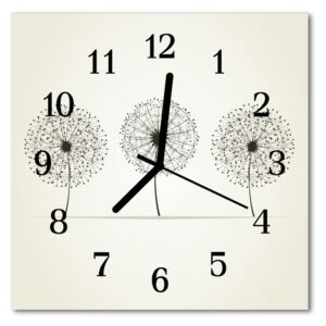 Glass Kitchen Clock Abstract abstract art grey 30x30 cm