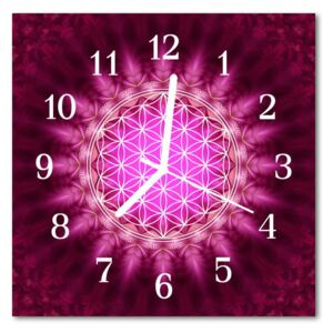 Glass Kitchen Clock Abstract abstract art pink 30x30 cm