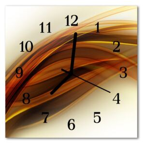 Glass Kitchen Clock Abstract abstract art brown 30x30 cm