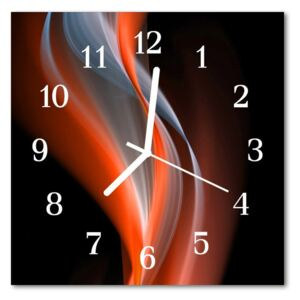 Glass Wall Clock Abstract abstract art multi-coloured 30x30 cm