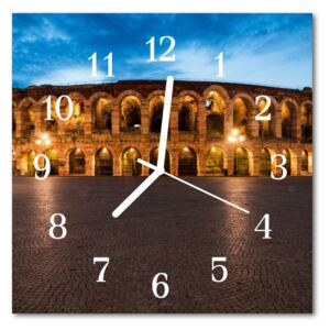 Glass Wall Clock Monument monument multi-coloured 30x30 cm