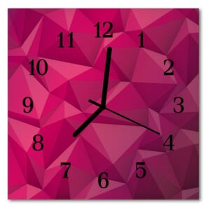 Glass Wall Clock Abstract abstract art pink 30x30 cm