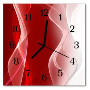 Glass Wall Clock Abstract abstract art red 30x30 cm
