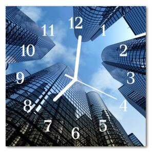 Glass Wall Clock Glass buildings architecture blue 30x30 cm