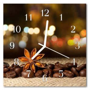 Glass Wall Clock Anise anise brown 30x30 cm