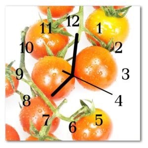Glass Wall Clock Tomatoes tomatoes red 30x30 cm