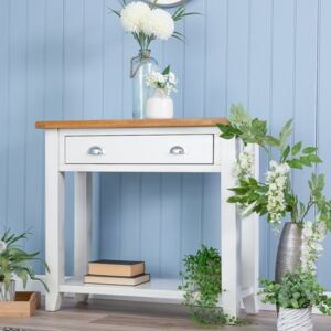 Chester White Painted Oak Console Table