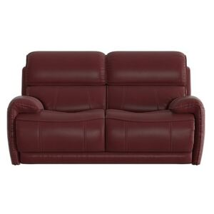 Link 2 Seater Leather Sofa - Red