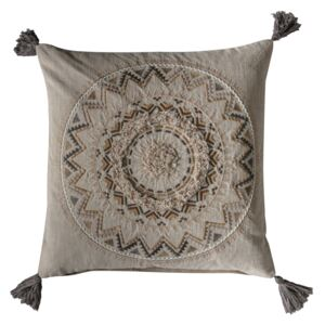 Hector Embroidered and Tasselled Cushion