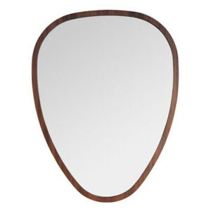 Ovo Small Wall mirror - / 38 x 50 cm - Walnut by Maison Sarah Lavoine Natural wood