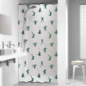 Sealskin Shower Curtain Freddy 180x200 cm White and Green