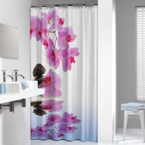 Sealskin Shower Curtain Spa 180x200cm Pink and White