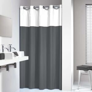 Sealskin Shower Curtain Double 180x200 cm Grey and White