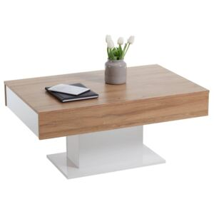 FMD Coffee Table Antique Oak and White