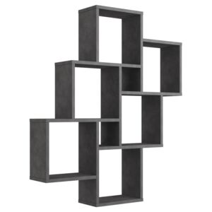 FMD Wall-mounted Shelf with 8 Compartments Matera