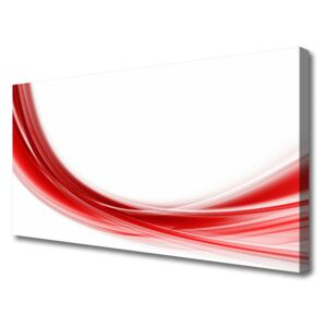 Canvas print Abstract art red white 100x50 cm