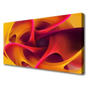 Canvas print Abstract art yellow pink 100x50 cm