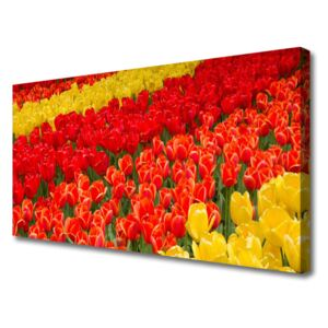 Canvas print Tulips floral red yellow 100x50 cm