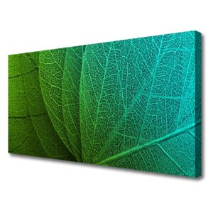 Canvas print Abstract leaves floral green 100x50 cm