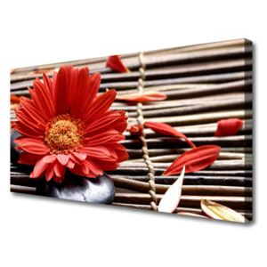 Canvas print Flower floral red yellow 100x50 cm