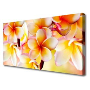 Canvas Wall art Flowers floral red green white 100x50 cm