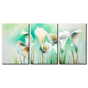 Canvas Print Calla: Turquoise meadow