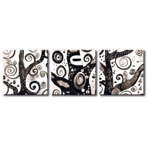 Canvas Print Black and White: Symbols of a tree