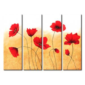 Canvas Print Poppies: Eight little poppies