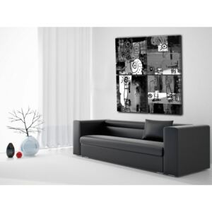 Canvas Print Black and White: Ghost