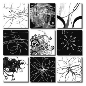 Canvas Print Black and White: Automatic writing