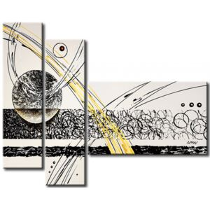 Canvas Print Black and White: Gold accent