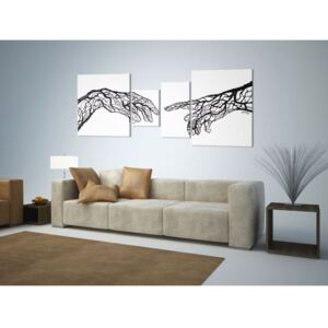 Canvas Print Black and White: Touch