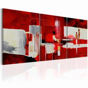 Canvas Print Characters: In red ambience