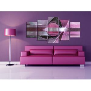 Canvas Print Abstract: Purple abstraction