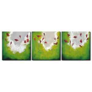 Canvas Print Poppies: Green poppies