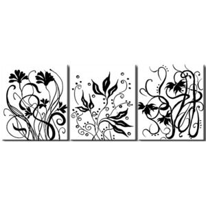Canvas Print Black and White: Variety of flowers