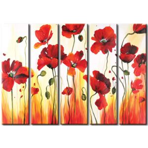 Canvas Print Poppies: Bouquet of poppies