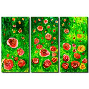 Canvas Print Roses: In rose garden
