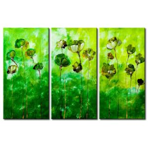Canvas Print Poppies: Green flowers